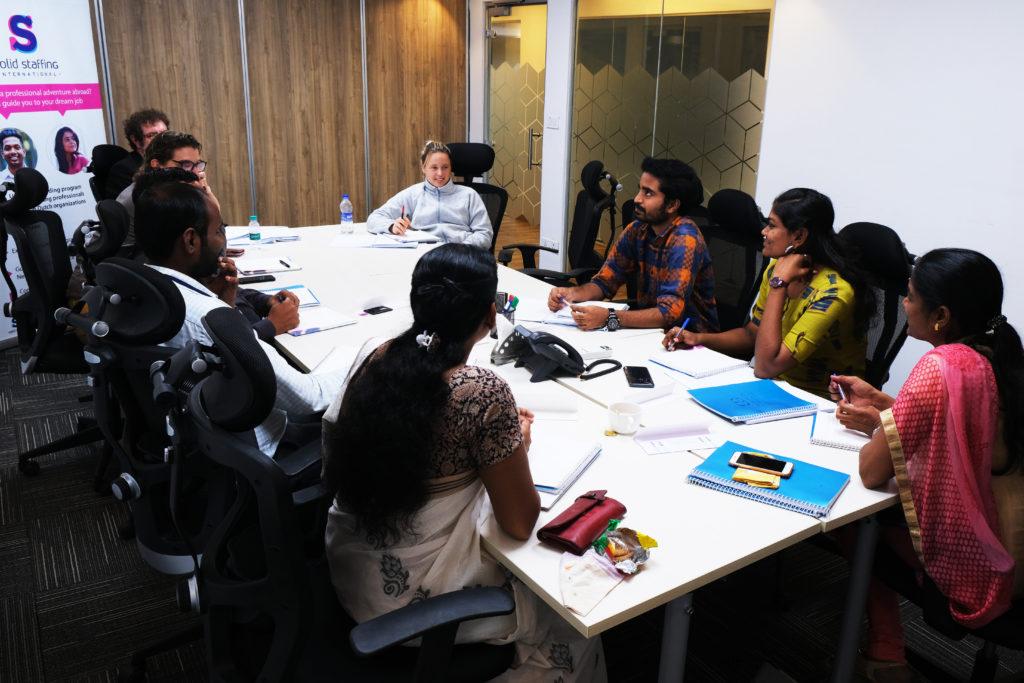Start cultuurtraining van Solid Staffing in Chennai, India