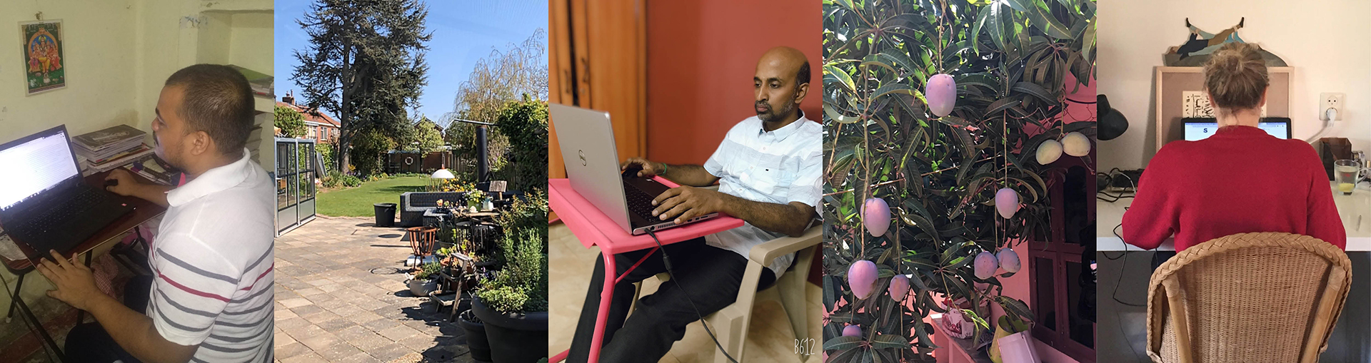 How is working from home in the Netherlands and in India?